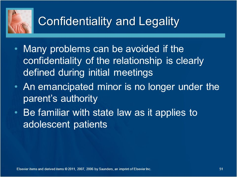 Confidentiality and Legality
