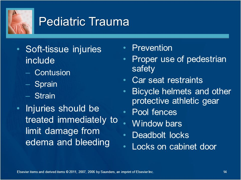 Pediatric Trauma Soft-tissue injuries include
