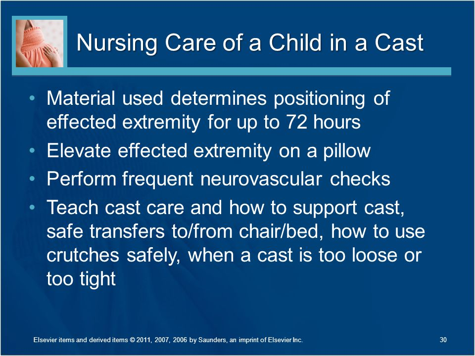 Nursing Care of a Child in a Cast