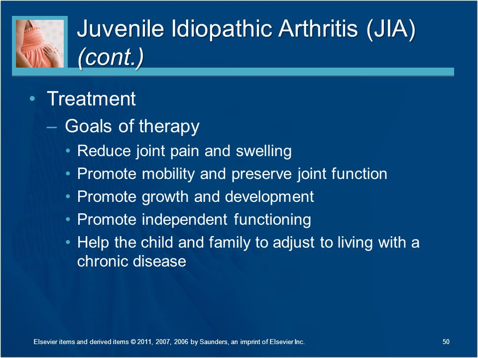 Juvenile Idiopathic Arthritis (JIA) (cont.)
