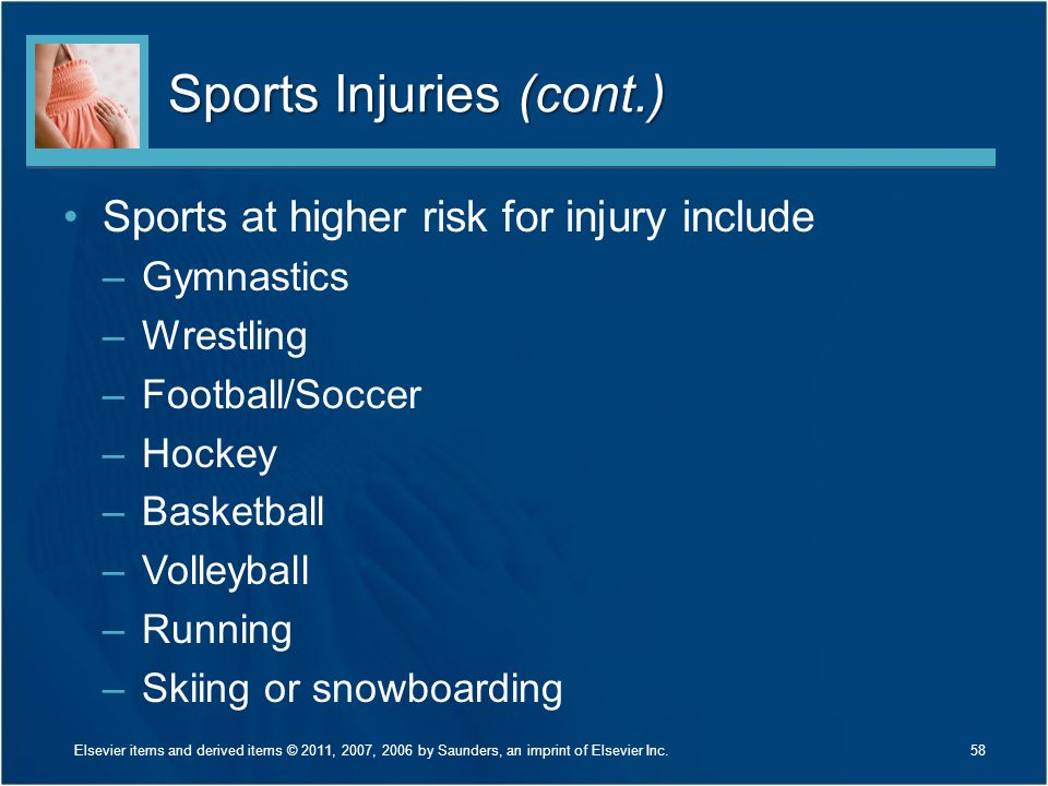 Sports Injuries (cont.)