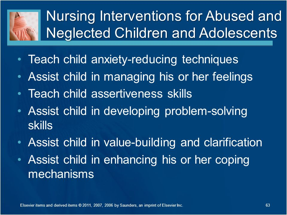 Nursing Interventions for Abused and Neglected Children and Adolescents