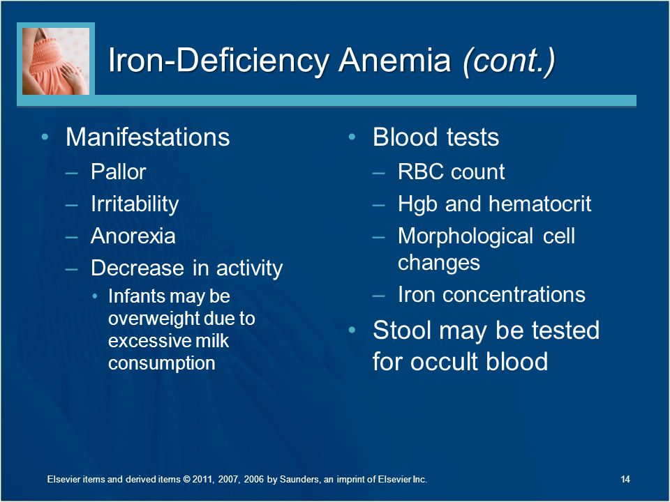 Iron-Deficiency Anemia (cont.)