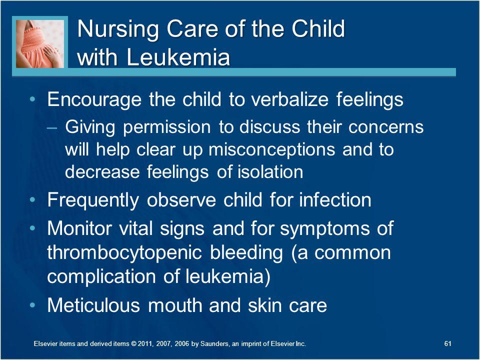 Nursing Care of the Child with Leukemia