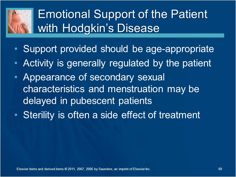 Emotional Support of the Patient with Hodgkin's Disease