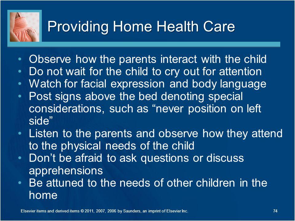 Providing Home Health Care