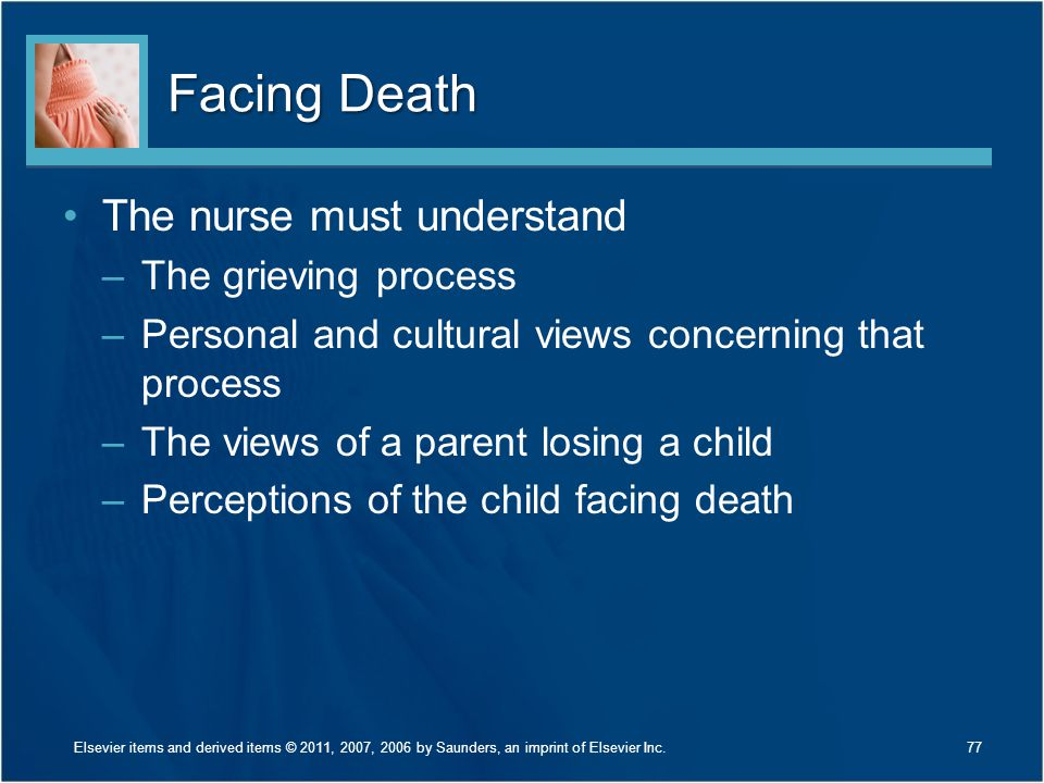 Facing Death The nurse must understand The grieving process