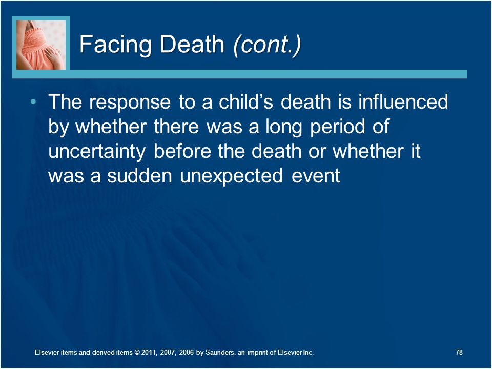 Facing Death (cont.)