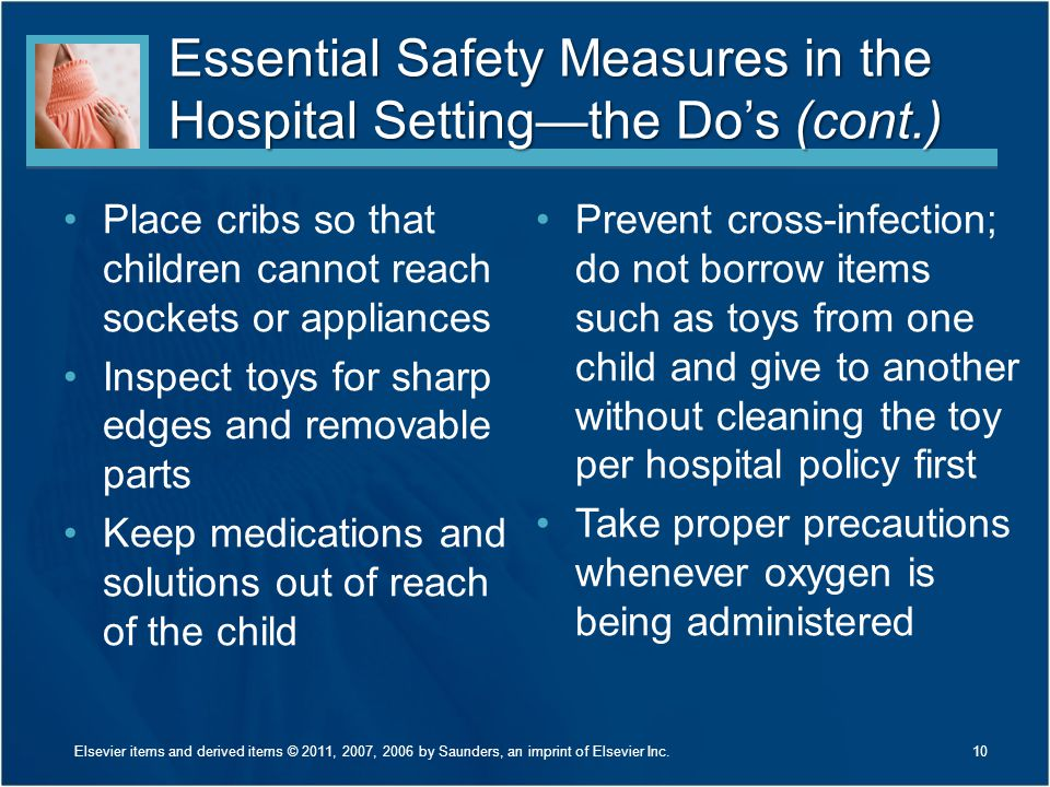 Essential Safety Measures in the Hospital Setting—the Do's (cont.)
