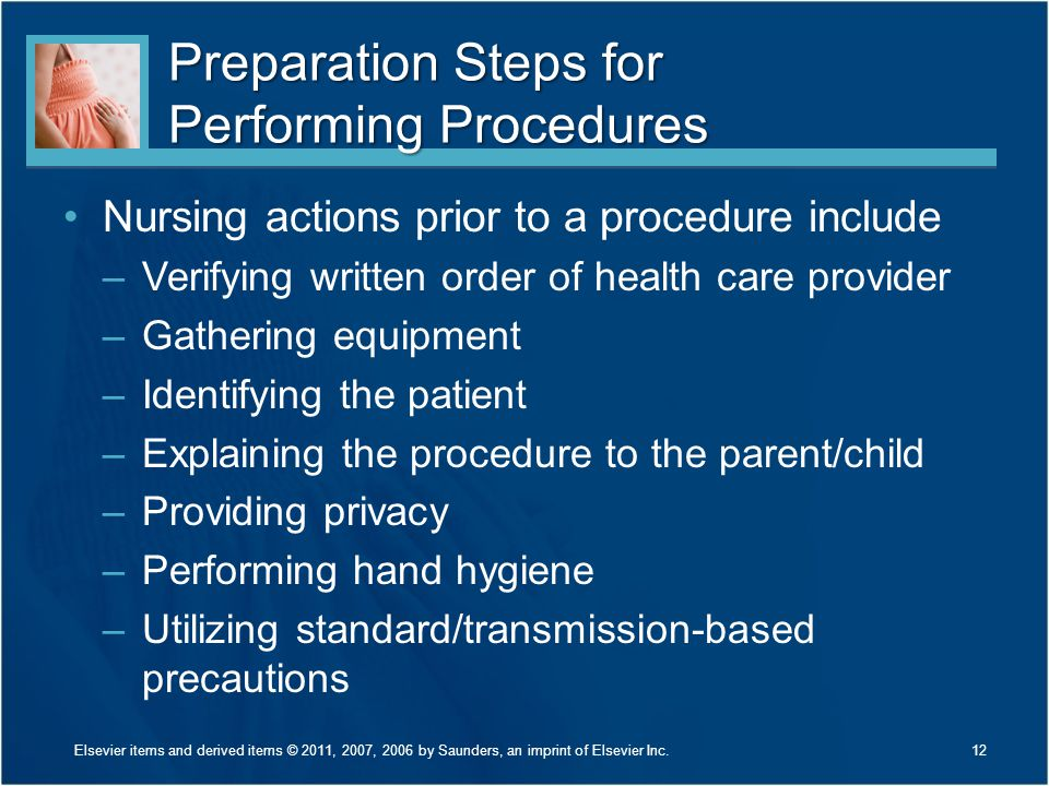 Preparation Steps for Performing Procedures