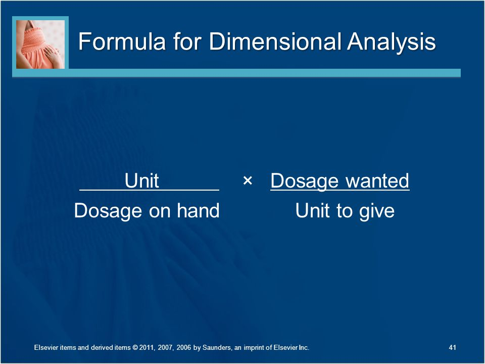 Formula for Dimensional Analysis