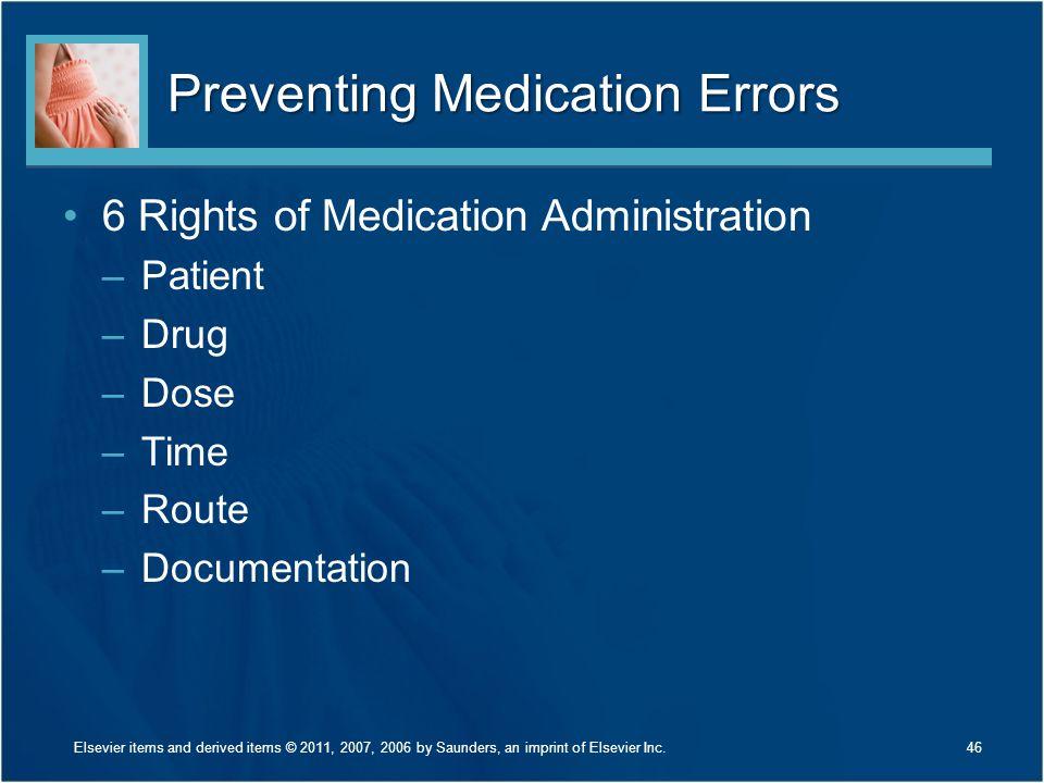 Preventing Medication Errors