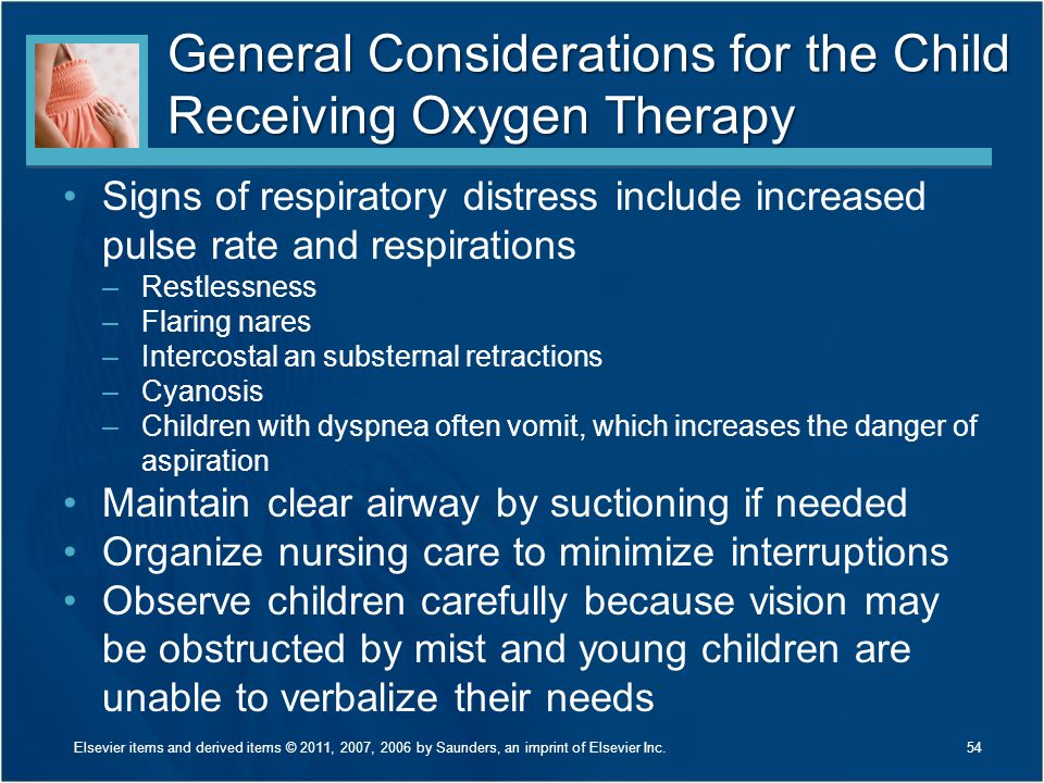 General Considerations for the Child Receiving Oxygen Therapy