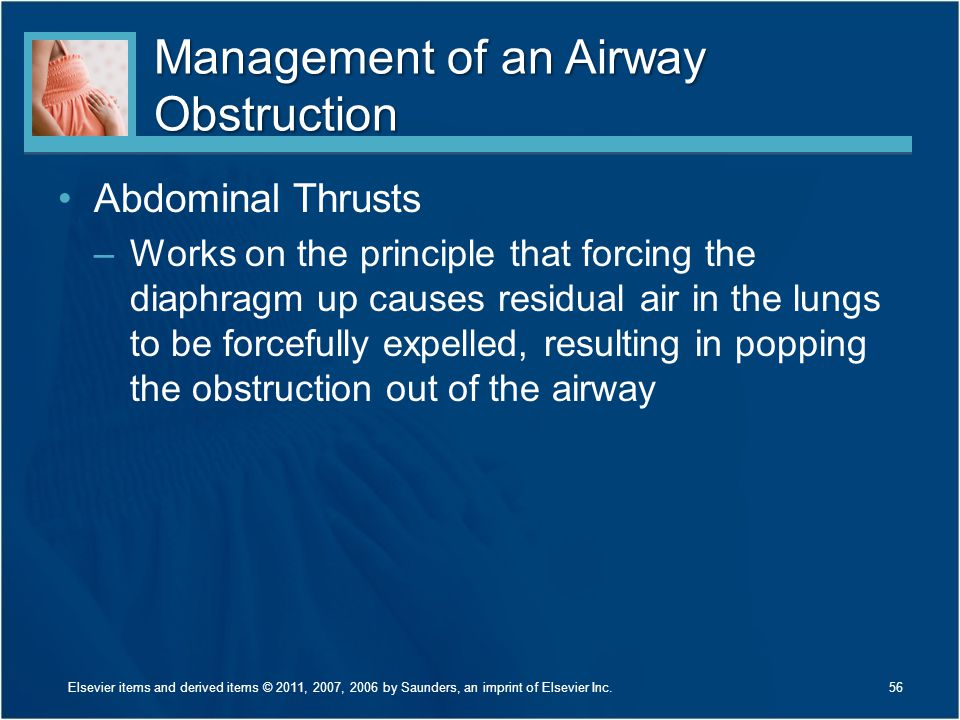 Management of an Airway Obstruction