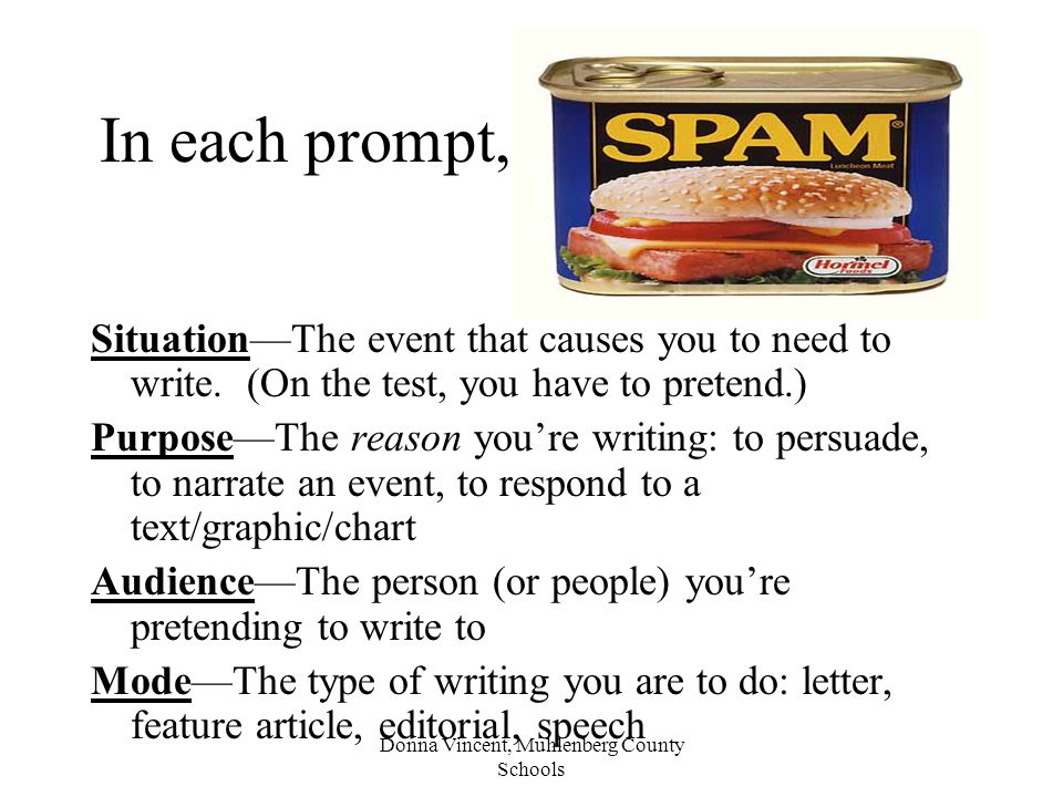 In each prompt, Look for SPAM.