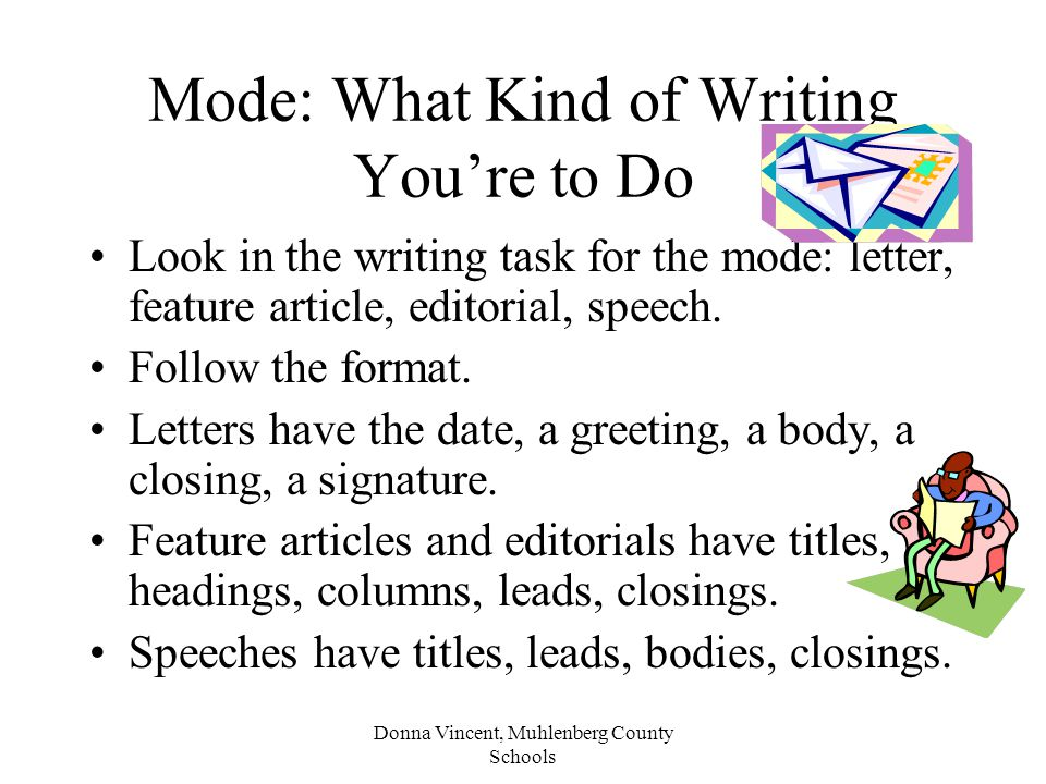 Mode: What Kind of Writing You're to Do