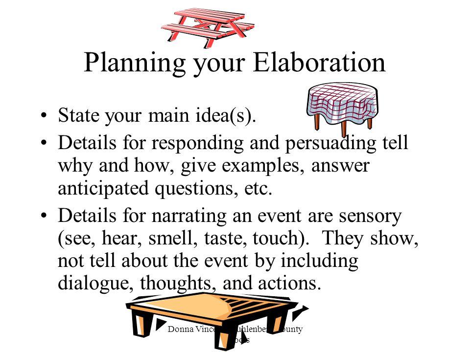 Planning your Elaboration