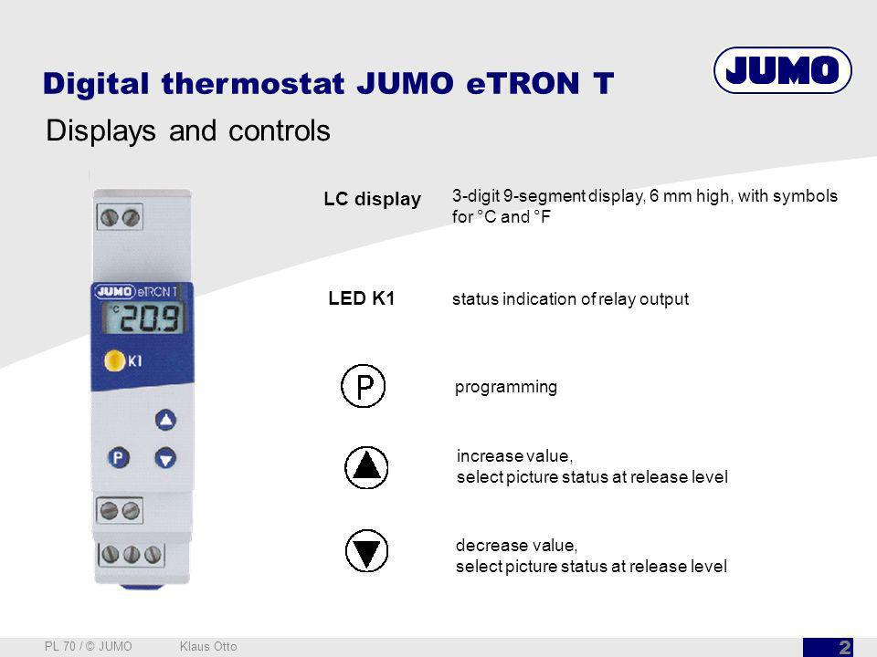 Digital thermostat JUMO eTRON T