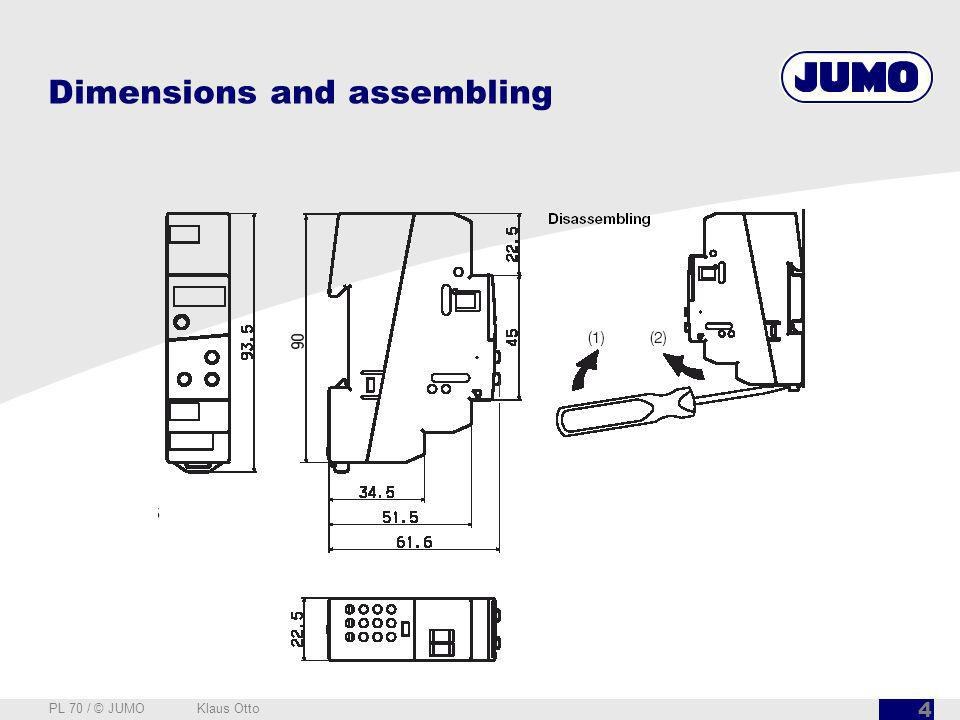 Dimensions and assembling