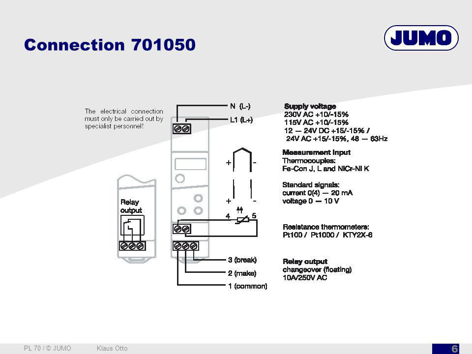 Connection 701050 PL 70 / © JUMO Klaus Otto