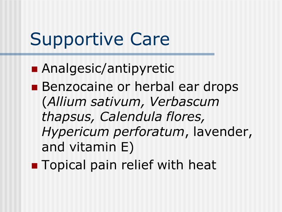 Supportive Care Analgesic/antipyretic