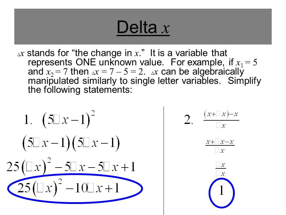 Delta x