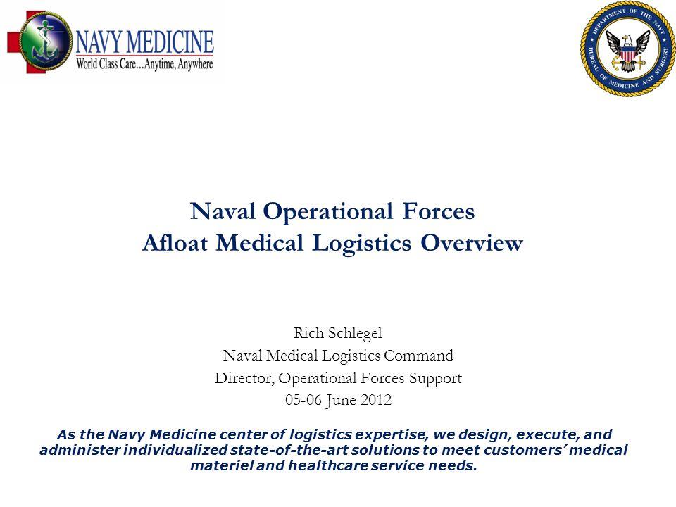 Naval Operational Forces Afloat Medical Logistics Overview