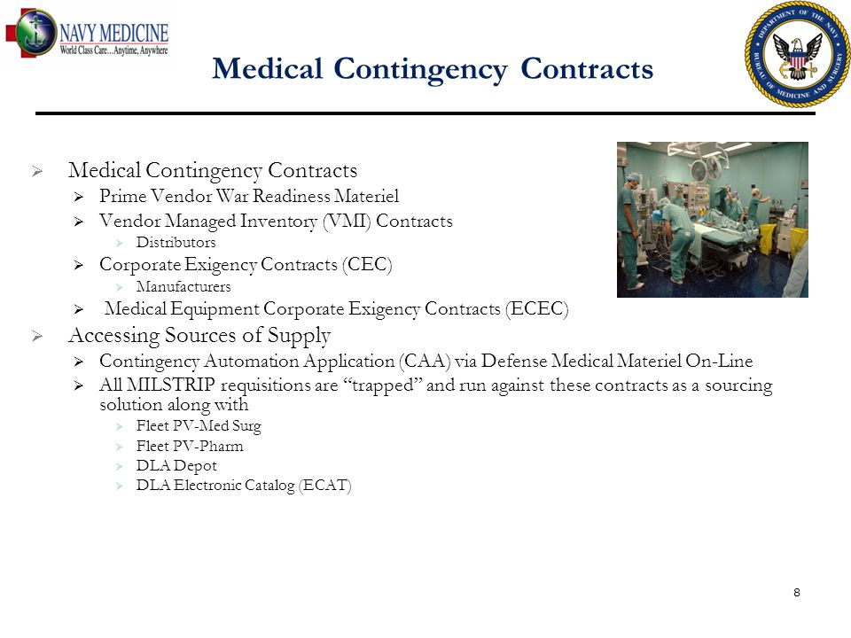 Medical Contingency Contracts