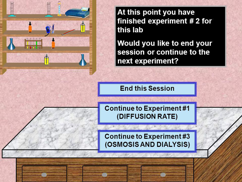 At this point you have finished experiment # 2 for this lab