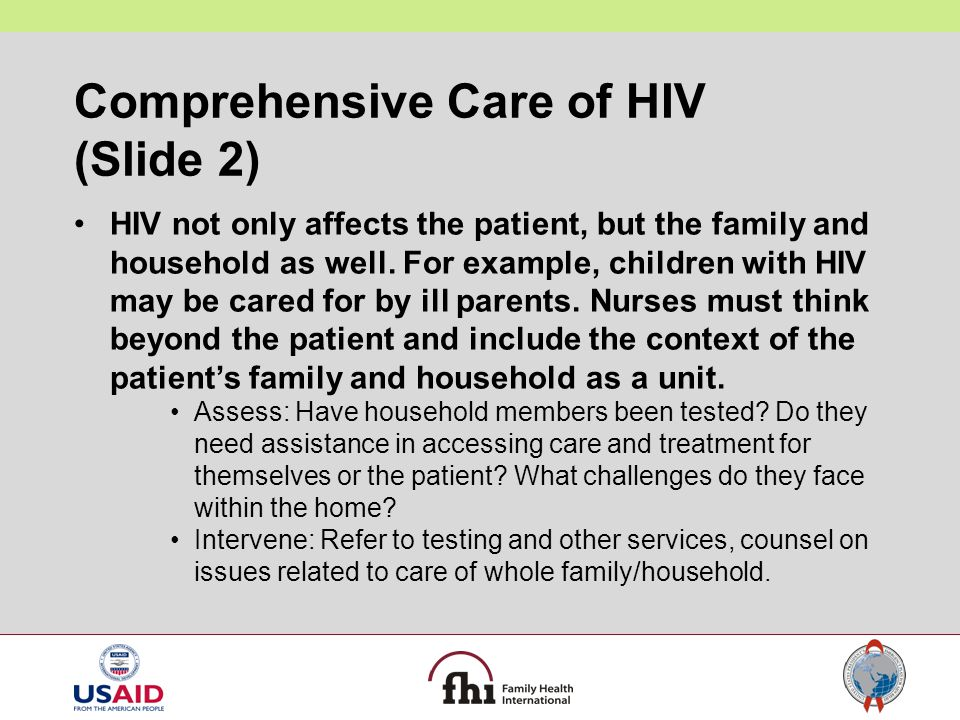 Comprehensive Care of HIV (Slide 2)
