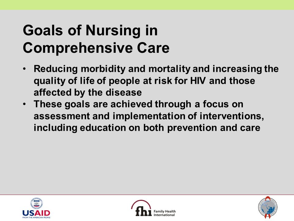 Goals of Nursing in Comprehensive Care