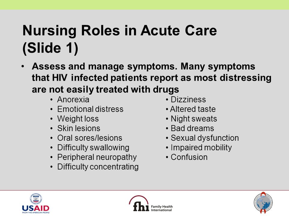 Nursing Roles in Acute Care (Slide 1)
