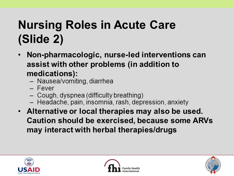 Nursing Roles in Acute Care (Slide 2)