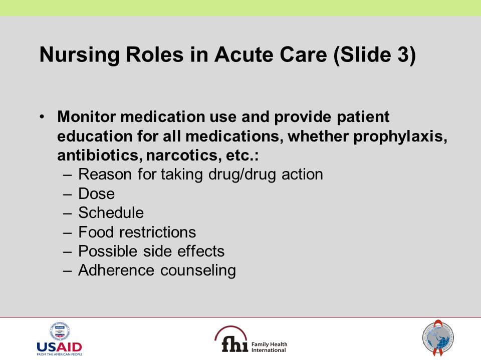 Nursing Roles in Acute Care (Slide 3)