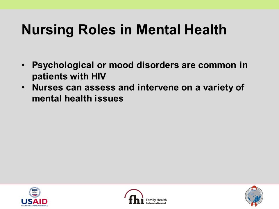 Nursing Roles in Mental Health
