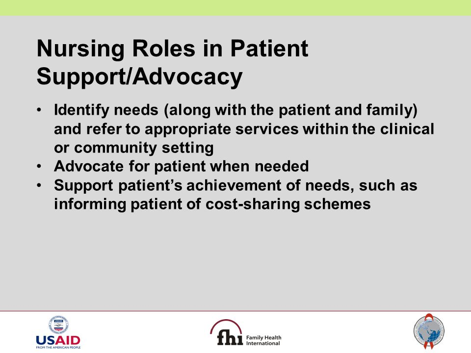 Nursing Roles in Patient Support/Advocacy