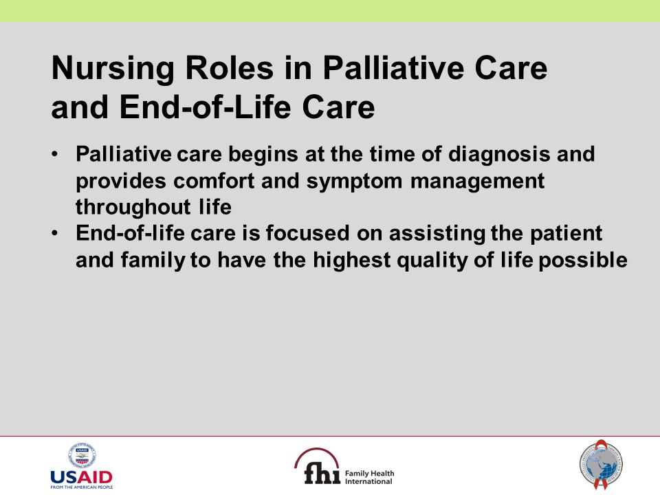 Nursing Roles in Palliative Care and End-of-Life Care