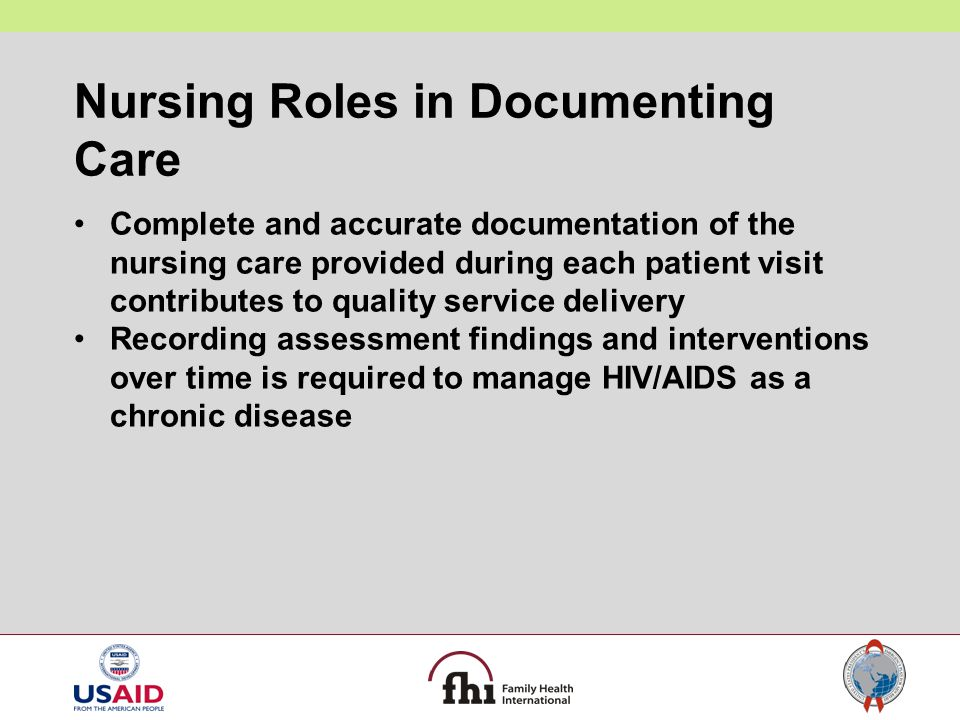 Nursing Roles in Documenting Care