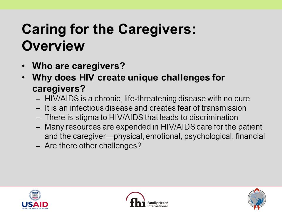 Caring for the Caregivers: Overview