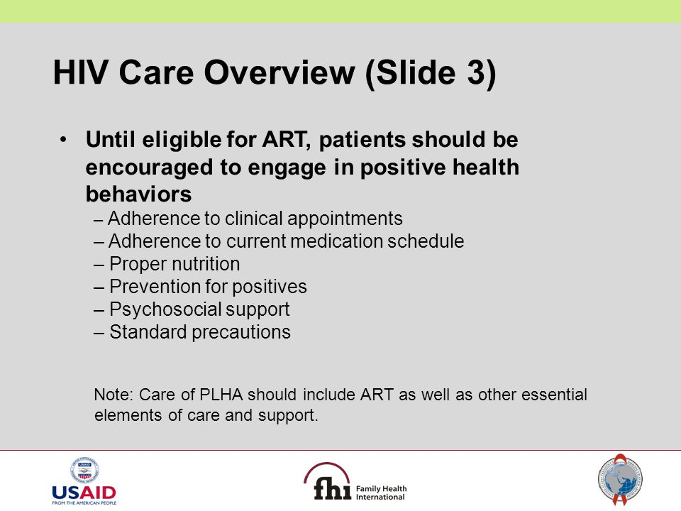 HIV Care Overview (Slide 3)
