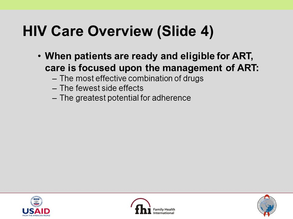 HIV Care Overview (Slide 4)