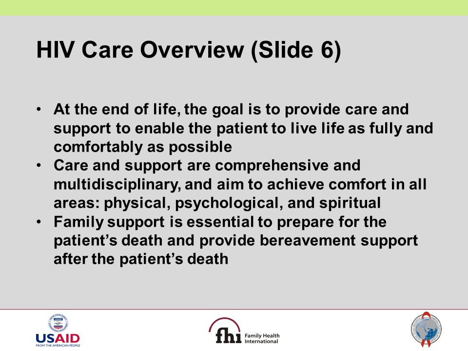 HIV Care Overview (Slide 6)
