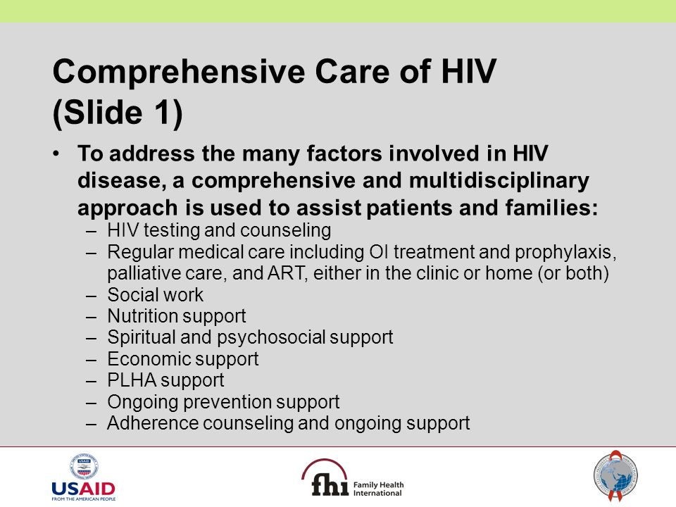 Comprehensive Care of HIV (Slide 1)