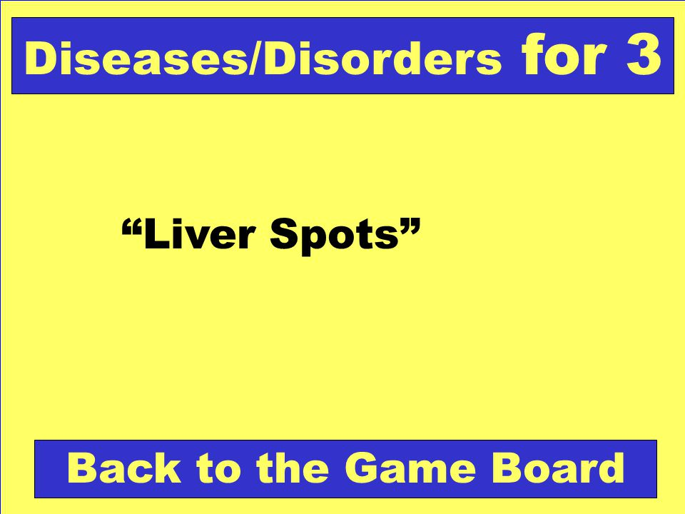Diseases/Disorders for 3