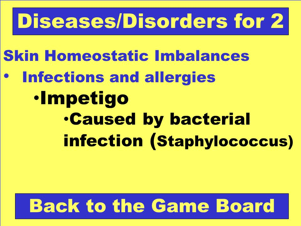 Diseases/Disorders for 2