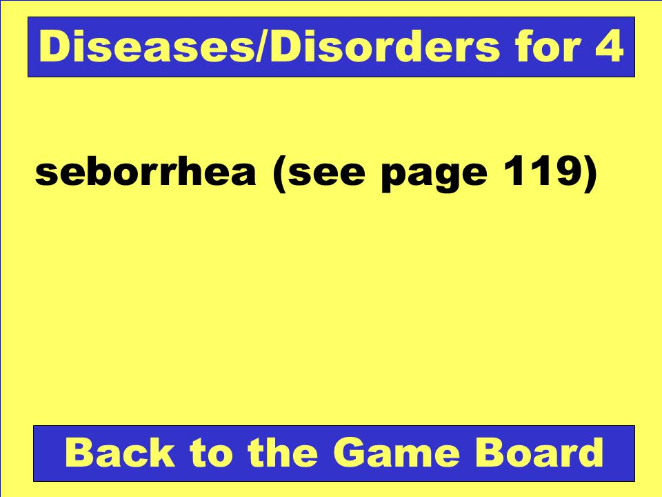 Diseases/Disorders for 4