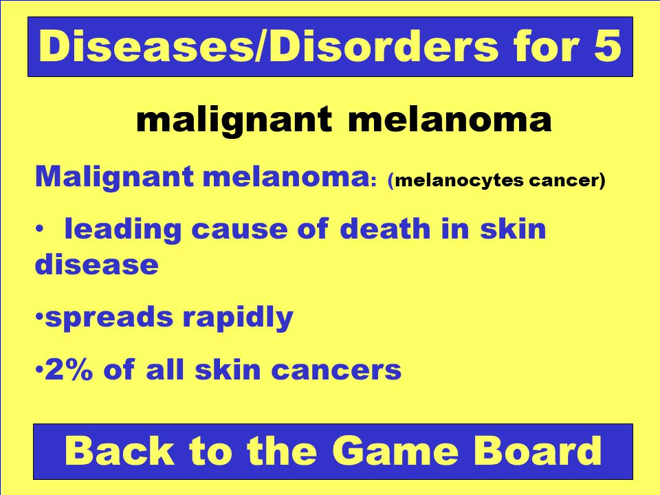 Diseases/Disorders for 5