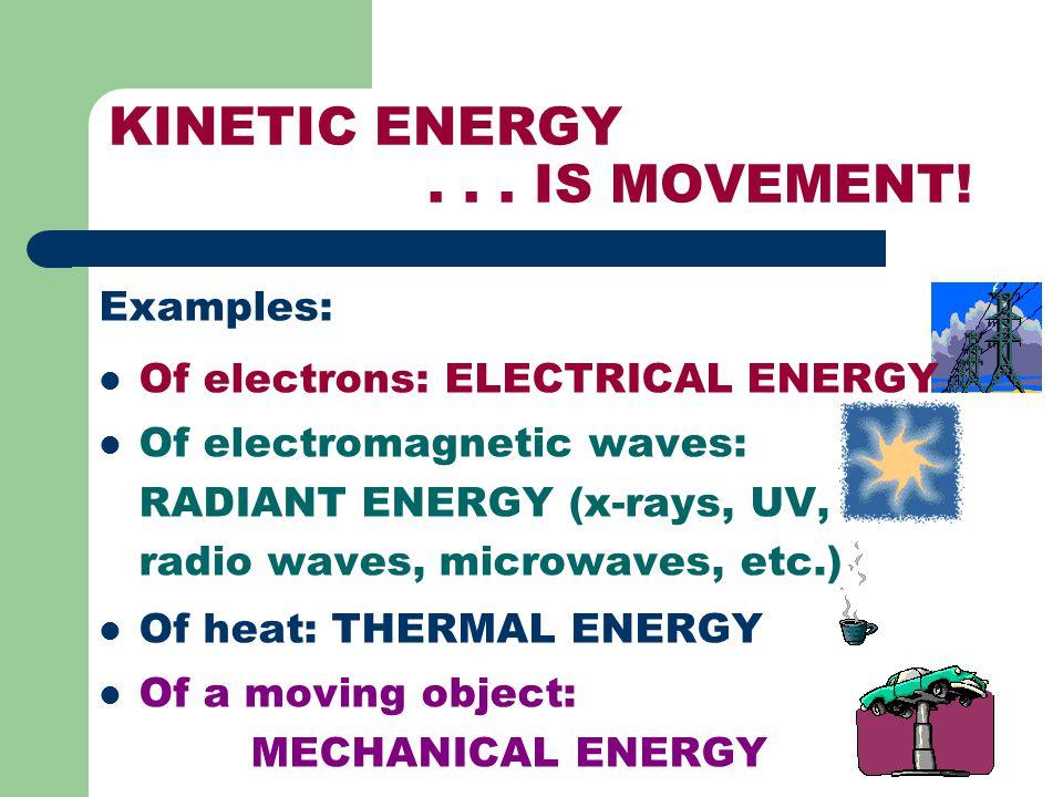 KINETIC ENERGY . . . IS MOVEMENT!