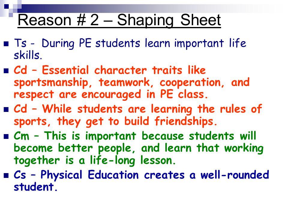 Reason # 2 – Shaping Sheet