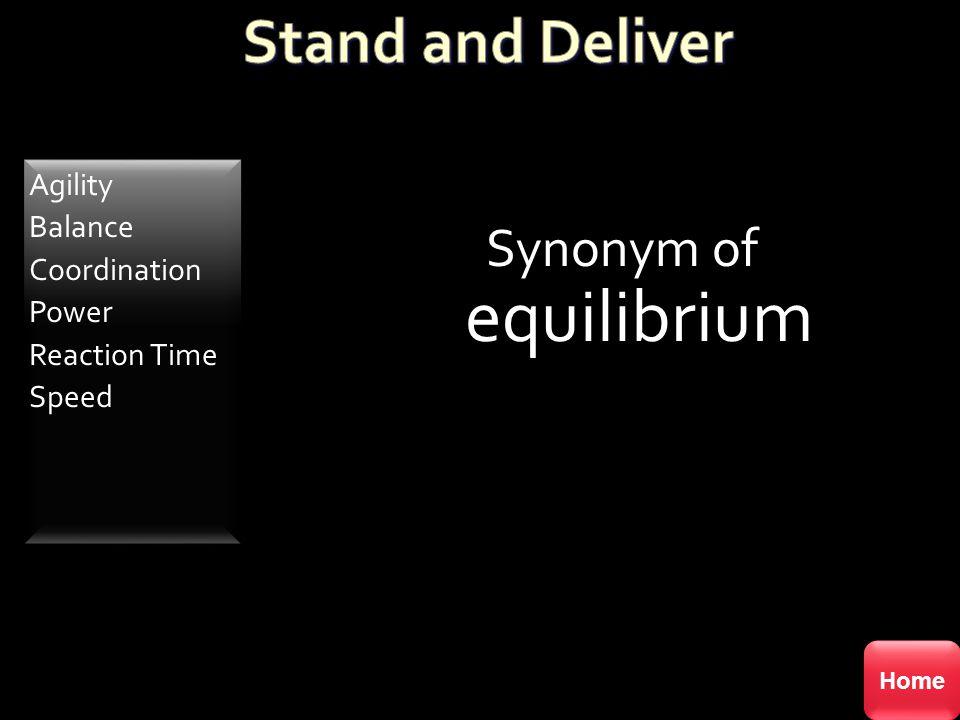 Synonym of equilibrium
